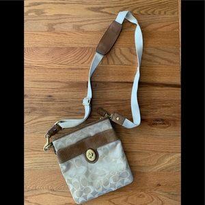 Coach signature messenger bag
